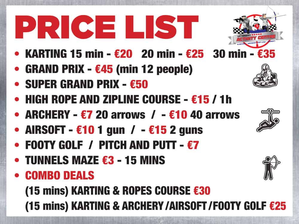 Karting-Centre-Price-List-2021